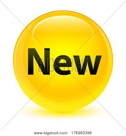 New Glassy Yellow Round Button