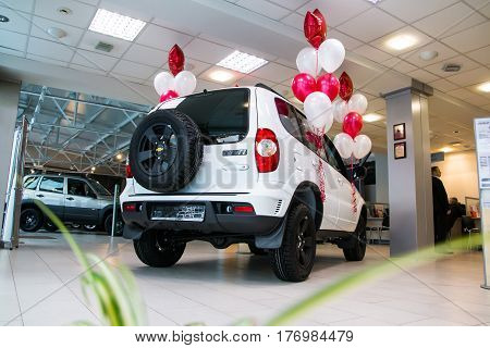 Showroom Of Dealership Chevrolet And Car In It In Kirov City In 2016