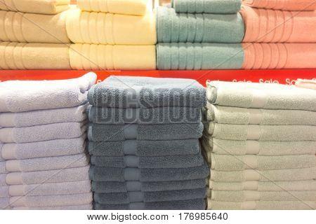 Towels On Shelves