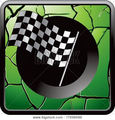 checkered flag on interesting web button