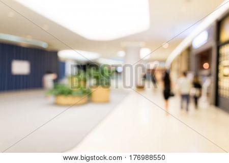 Blur view of shopping center