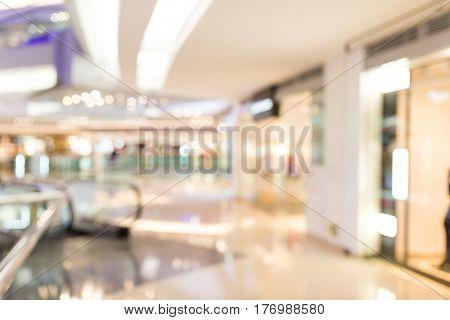 Abstract blur shopping center