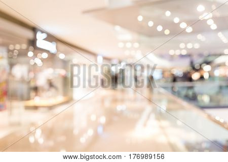 Abstract blur department store