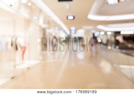Blurry view of department store