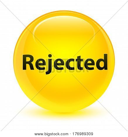 Rejected Glassy Yellow Round Button