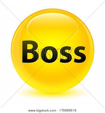 Boss Glassy Yellow Round Button
