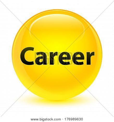 Career Glassy Yellow Round Button
