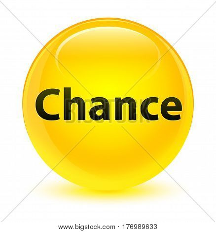 Chance Glassy Yellow Round Button