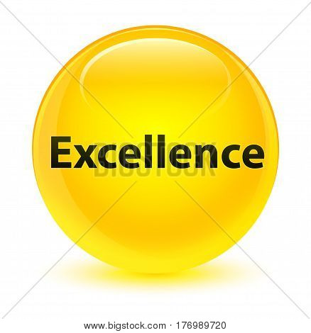 Excellence Glassy Yellow Round Button