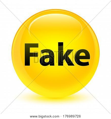 Fake Glassy Yellow Round Button