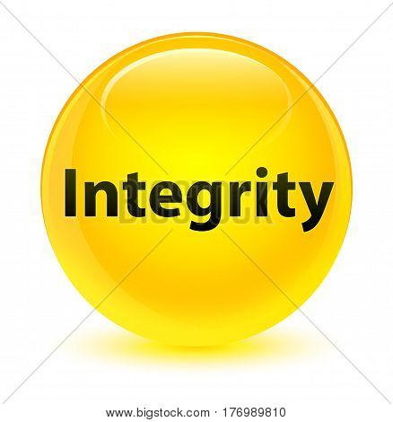 Integrity Glassy Yellow Round Button