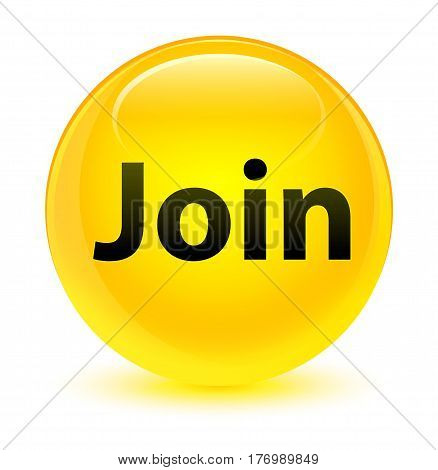 Join Glassy Yellow Round Button