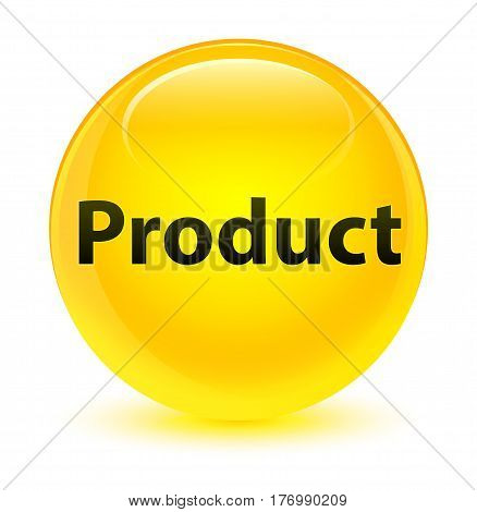 Product Glassy Yellow Round Button
