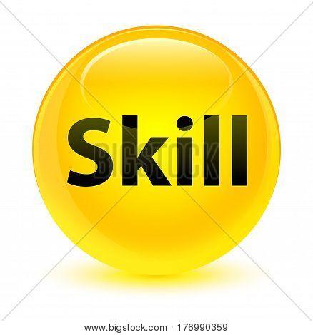 Skill Glassy Yellow Round Button