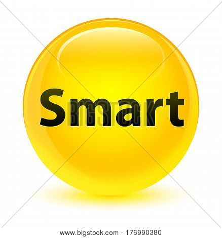 Smart Glassy Yellow Round Button