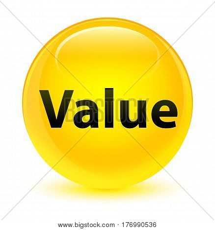 Value Glassy Yellow Round Button