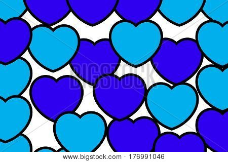 Abstract Shapes For Saint Valentine Holiday, High Definition Decoration