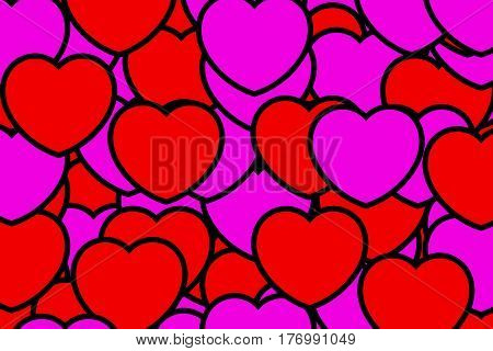 Color Pattern For Saint Valentines Holiday, High Definition Backdrop