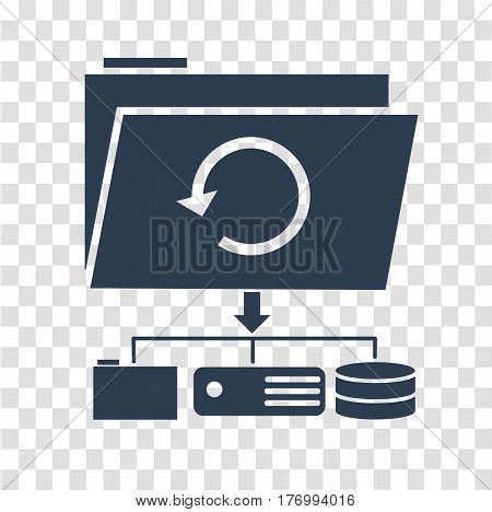Icon Backup Day Silhouette
