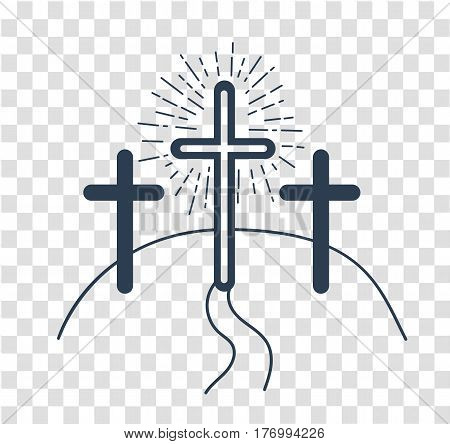Silhouette Concept Of The Crucifixion