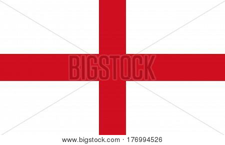 Flag Of England. St George's Cross 3D Illustration