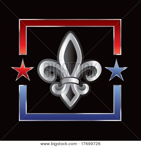 fleur de lis symbol on star outline