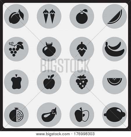 Set Of 16 Editable Dessert Icons. Includes Symbols Such As Jonagold, Garnet, Apple And More. Can Be Used For Web, Mobile, UI And Infographic Design.