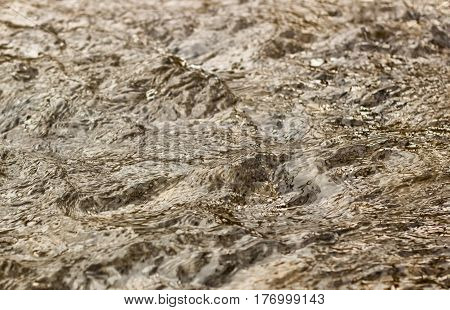 Background flow in a creek beauty of nature water flow