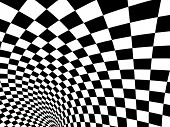 Abstract illusion. Black and white poster