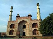 Sikandra tomb front view built by Akbar the great poster