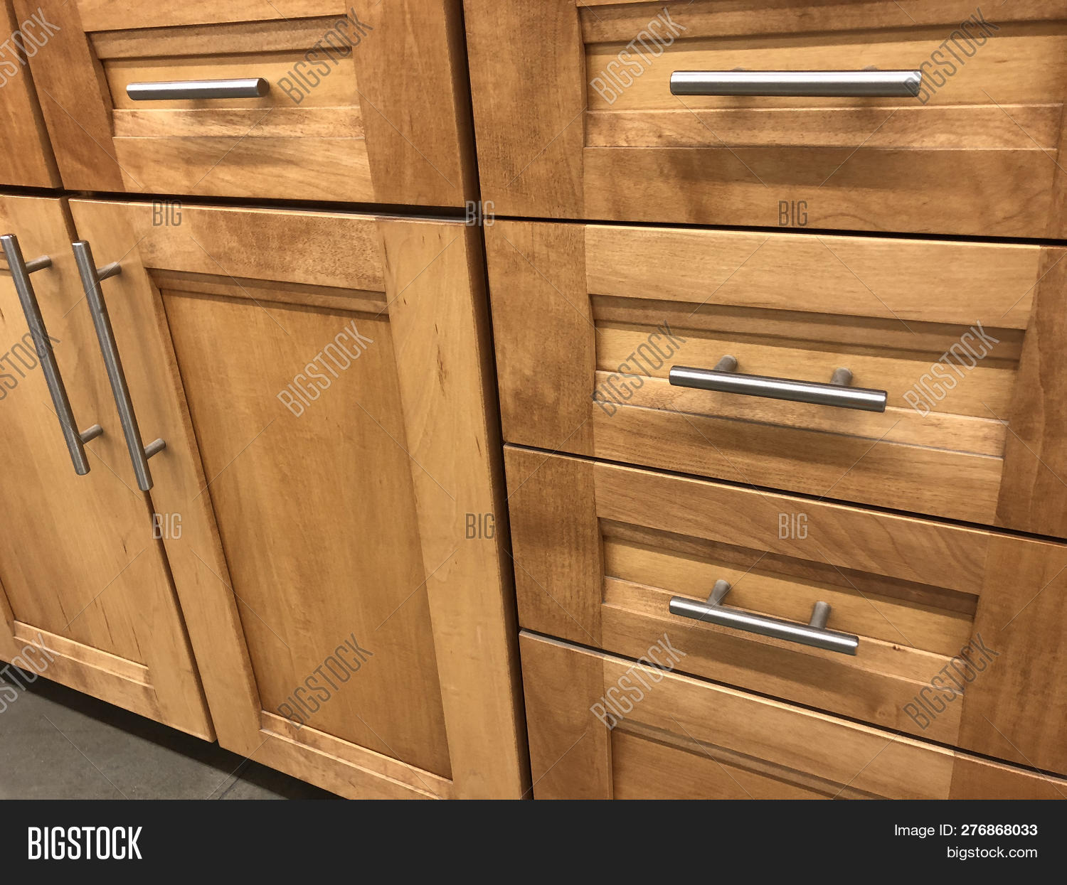 Wood Kitchen Cabinets Image Photo Free Trial Bigstock
