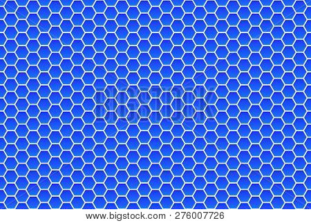 Seamless Blue And White Hexagon Background Texture