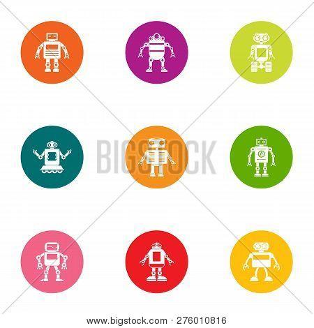 Iron Orgasm Icons Set. Flat Set Of 9 Iron Orgasm Icons For Web Isolated On White Background