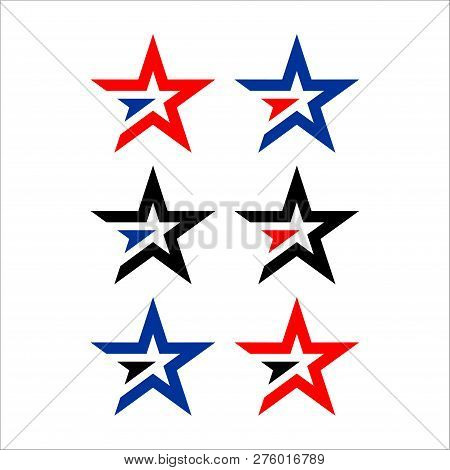 Save Download Preview Star Color Vector Logo,abstract Star Color Icon, Star Rating, Rank. Star Astro