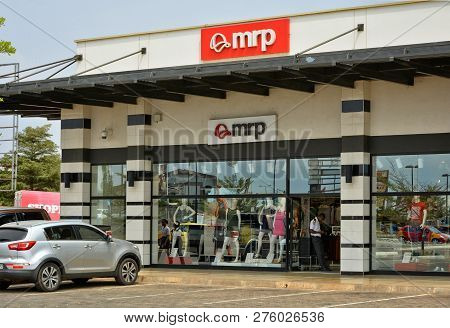 Mrp Shop Window. Fashion Storefront In A Shopping Mall. Modern Style. Elegant Clothes. Woman Fashion