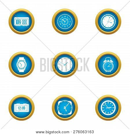 Duration Icons Set. Flat Set Of 9 Duration Icons For Web Isolated On White Background