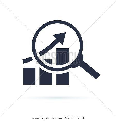 Research Icon, Analyze Business Linear Sign Isolated On White Background Vector Illustration Eps10.