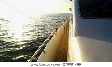 Yacht, Sailing Regatta. Scene. Luxury Yachts. Sailing Ship Yachts In The Open Sea During Fantastic S