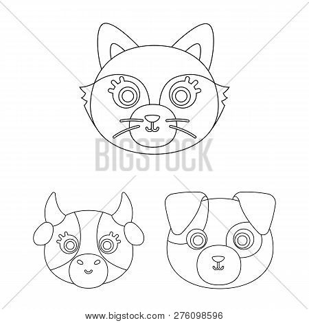 Vector Design Of Animal And Habitat Icon. Set Of Animal And Farm Stock Symbol For Web.