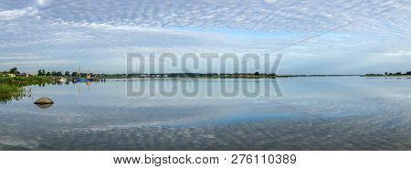 Scenic Landscape At Backwater Of Baltic Sea In Benz, Usedom, Germany