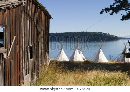 Teepees And Barn