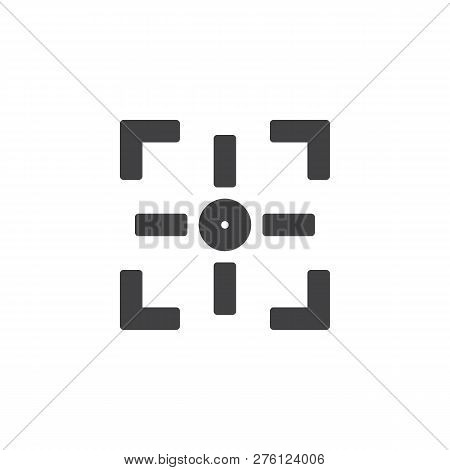 Camera Focus Vector Icon. Filled Flat Sign For Mobile Concept And Web Design. Photo Camera Focusing