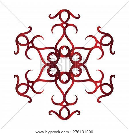 Red Ethnic Abstract Vector Photo Free Trial Bigstock