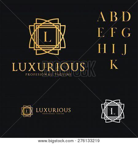 Logo Template Luxurious, Hotel, Fashion, Letter L, Wedding, Premium, Restaurant.