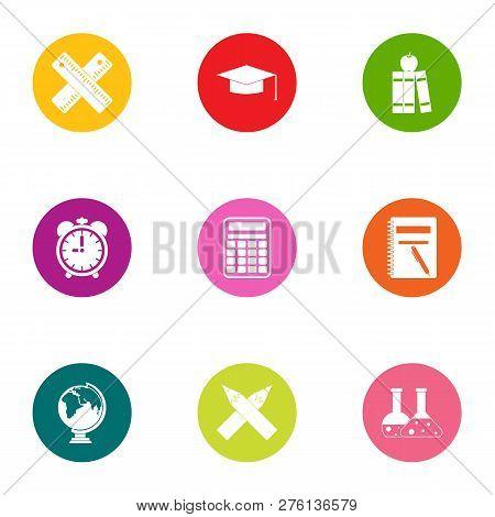 Valuable Knowledge Icons Set. Flat Set Of 9 Valuable Knowledge Icons For Web Isolated On White Backg