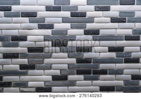 Black, Gray, Silver, And White Tile Kitchen Backsplash For Background Pattern