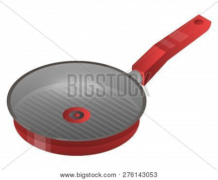 Griddle Pan Icon. Isometric Of Griddle Pan Icon For Web Design Isolated On White Background