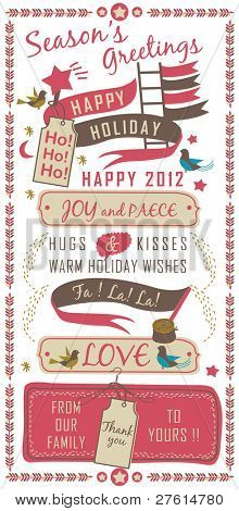 Letterpress - Happy Holiday