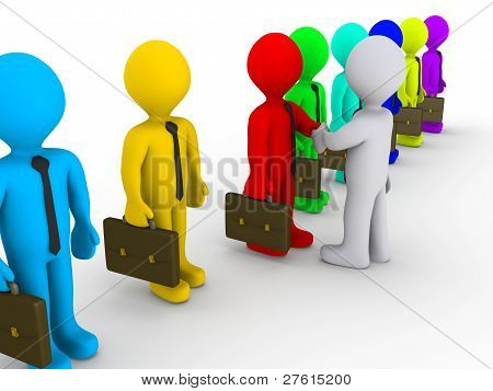 Selecting Businessman For Deal