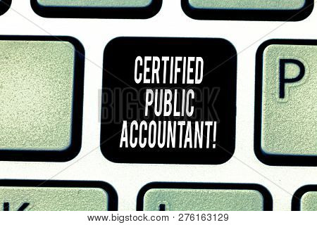 Handwriting Text Writing Certified Public Accountant. Concept Meaning Accredited Professional Body O